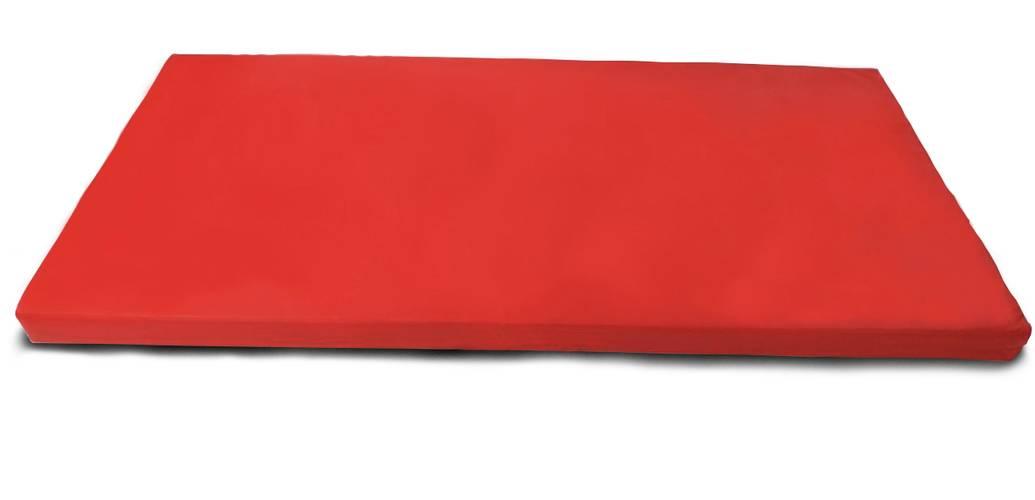 Мат гимнастический № 6 (100 х 200 х 10) см красный, Варианты цветов: Красный, фото