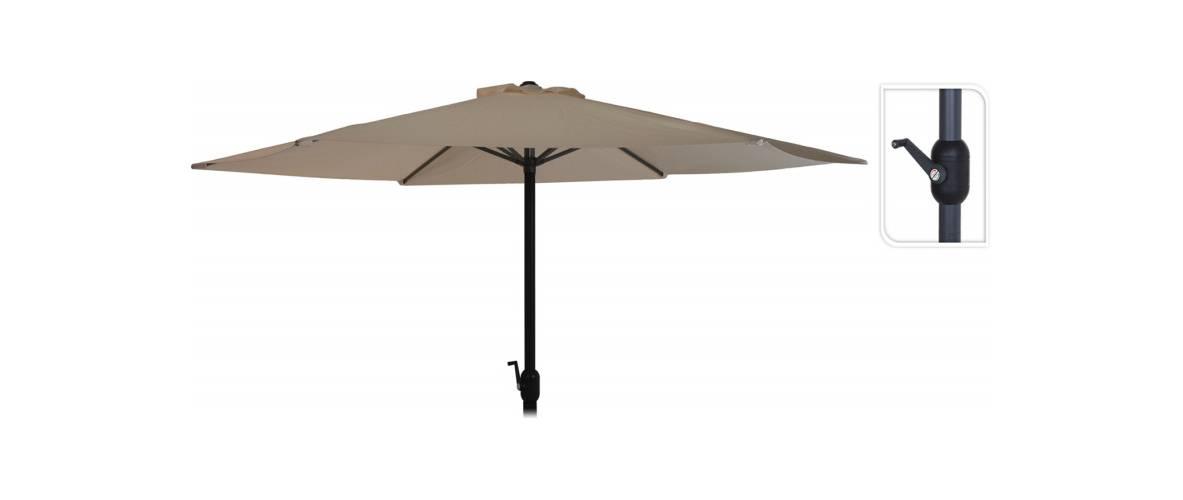 Зонт садовый складной Koopman ф300 купол Туапе (бежевый), Цвет: Бежевый, фото