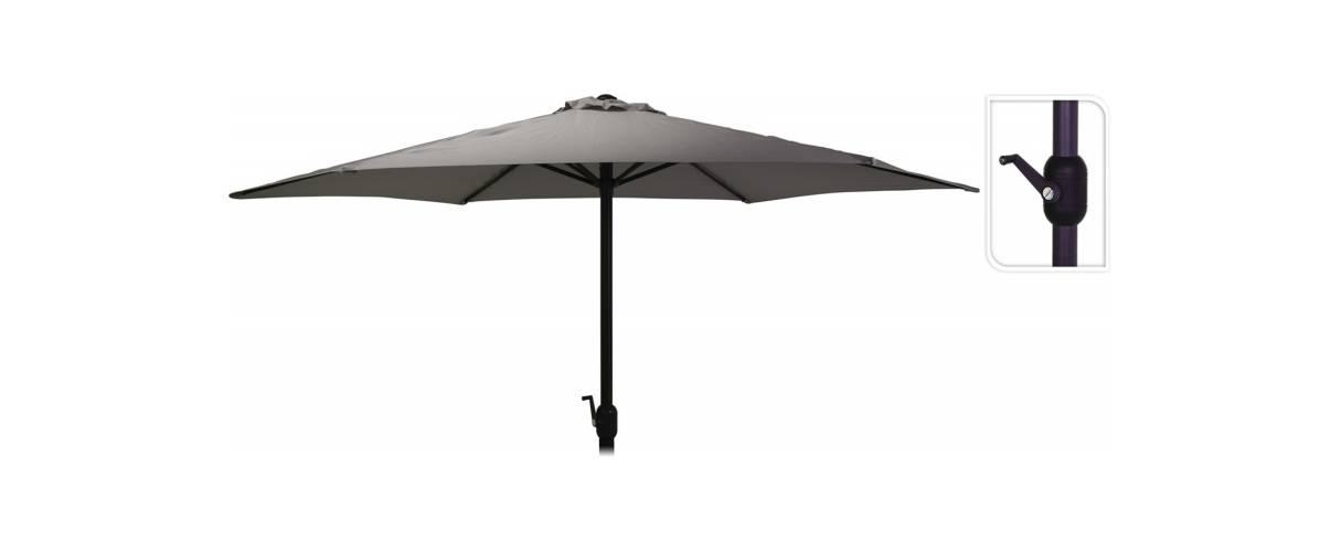 Зонт садовый складной Koopman ф300 купол Темно-серый, Цвет: Темно-серый, фото