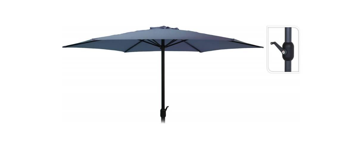 Зонт садовый складной Koopman ф300 купол Синий, Цвет: Синий, фото