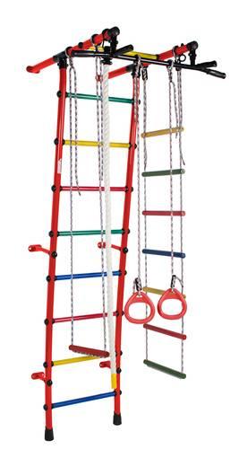 ДСК Формула здоровья Стелла красный/радуга, Цвет стоек: Красный, Цвет у перекладин: Разноцветные, фото