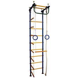 ДСК Вертикаль Юнга № 1 синие стойки - жёлтые перекладины, фото
