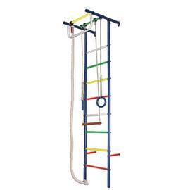 ДСК Вертикаль Юнга № 3 синие стойки - разноцветные перекладины, фото
