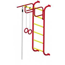 ДСК Пионер 7 красно/жёлтый, Цвет стоек: Красный, Тип перекладин: Металлические, фото