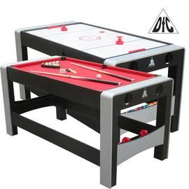 Игровой стол бильярд/аэрохоккей DFC FERIA 2 в 1 трансформер ES-GT-66322, фото
