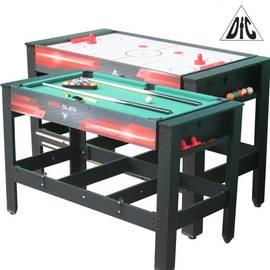 Игровой стол бильярд/аэрохоккей DFC DRIVE 2 в 1 трансформер ES-GT-48242, фото