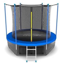 EVO JUMP Internal 10ft (Sky). Батут с внутренней сеткой и лестницей, диаметр 10ft (синий) + нижняя сеть, Цвет батута: Синий, фото