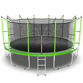 EVO JUMP Internal 16ft (Green) Батут с внутренней сеткой и лестницей, диаметр 16ft (зеленый), Цвет батута: Зеленый, фото
