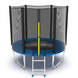 EVO JUMP External 6ft (Blue) Батут с внешней сеткой и лестницей, диаметр 6ft (синий), Цвет батута: Синий, фото