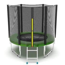 EVO Jump External 6ft (Green) Батут с внешней сеткой и лестницей, диаметр 6ft (зеленый), Цвет батута: Зеленый, фото