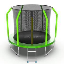 EVO JUMP Cosmo 8ft (Green) Батут с внутренней сеткой и лестницей, диаметр 8ft (зеленый), фото