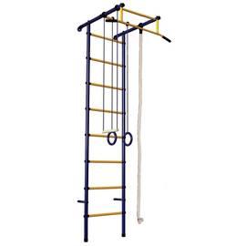 ДСК Вертикаль Юнга № 3.1 ПВХ сине/желтый, Цвет стоек: Синий, Тип перекладин: Металл + ПВХ, Цвет у перекладин: Желтый, фото