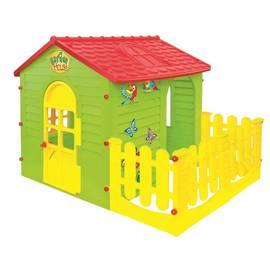 Детский игровой Домик с забором садовый Mochtoys 10498, фото