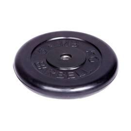 """Диск обрезиненный """"Barbell"""" d 26 мм чёрный 5,0 кг, фото"""