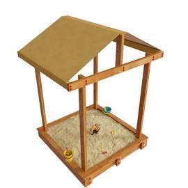 Детская игровая деревянная песочница ДЮНА с крышей, фото