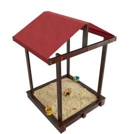 Детская игровая деревянная песочница ДЮНА венге с крышей, фото