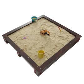 Детская игровая деревянная песочница ДЮНА венге, фото
