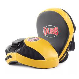 Лапа бокс.(пара) Jabb JE-2194 иск.кожа черный/желтый N/S, фото