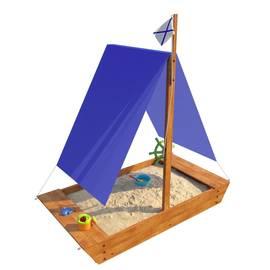 Детская игровая деревянная песочница ЛАДЬЯ, фото