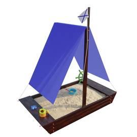 Детская игровая деревянная песочница ЛАДЬЯ венге, фото