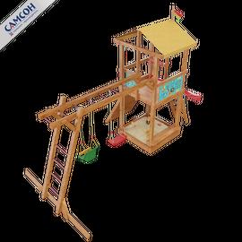 Детская деревянная игровая площадка Мадагаскар (модель 2018г.), фото