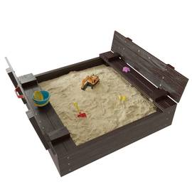 Детская игровая деревянная песочница АРЕНА венге, фото