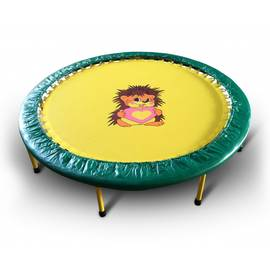 Складной мини-батут 48 КМС диаметр 122 см (зелёно-жёлтый), Цвет батута: Зелено-желтый, фото