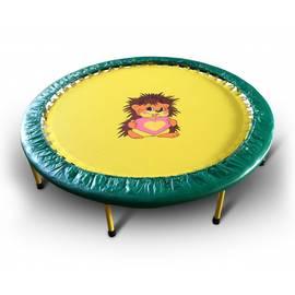 Складной мини-батут 54 КМС диаметр 138 cм (зелено-желтый), Цвет батута: Зелено-желтый, фото
