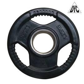 Диск обрезиненный чёрный, с хватом, 51 мм, 1,25 кг DFC WP015-51-1.25, фото