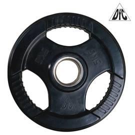 Диск обрезиненный чёрный, с хватом, 51 мм, 5 кг DFC WP015-51-5, фото