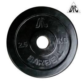 Диск обрезиненный чёрный, 31 мм, 2,5 кг DFC WP021-31-2.5, фото