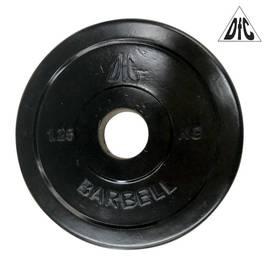 Диск обрезиненный чёрный, 31 мм, 1,25 кг DFC WP021-31-1.25, фото