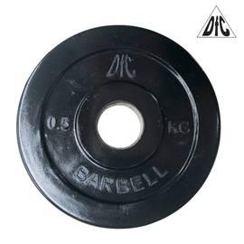 Диск обрезиненный чёрный, 26 мм, 0,5 кг DFC WP021-26-0.5, фото