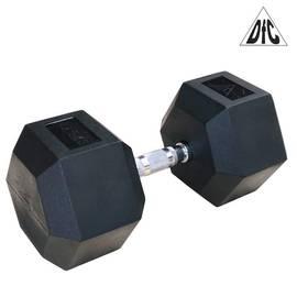 Гантели DFC гексаг. обрезиненная пара 42.5 кг DB001-42.5, фото