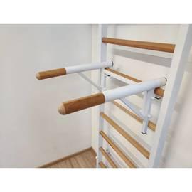 Брусья (деревянные ручки) для шведской стенки (разборные), Цвет металлических частей комплекса: Антик-серебро, фото