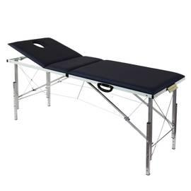 Складной трехсекционный массажный стол с регулировкой высоты 185х62 см (3Th185), фото