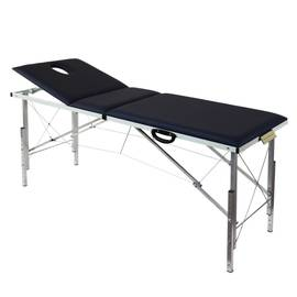 Складной трехсекционный массажный стол с регулировкой высоты 190*70 см (3Th190), фото