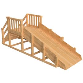 Зимняя деревянная заливная горка Ледянка (Без окраски), Покрытие: Без покрытия, фото