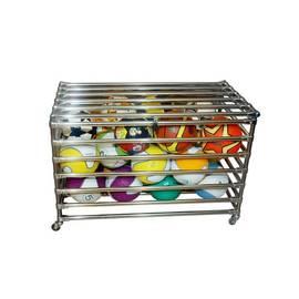 Корзина для мячей на колесиках (опция), с замком, Вариант исполнения: Опора пластиковая, фото
