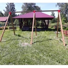 Качели гнездо ХИТ деревянные двухсекционные, фото