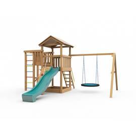 Детская игровая площадка Лео с гнездом (с покраской), Покрытие: С покраской, фото