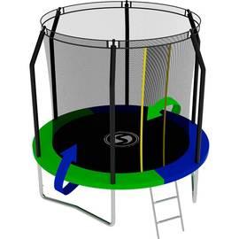 Батут SWOLLEN Prime 8 FT (Зеленый / Синий (двухсторонний)), фото