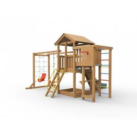 Детская игровая площадка Лео макси (с покраской), Покрытие: С покраской, фото