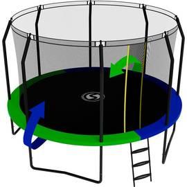 Батут SWOLLEN Prime Black 12 FT (Зеленый / Синий (двухсторонний)), фото