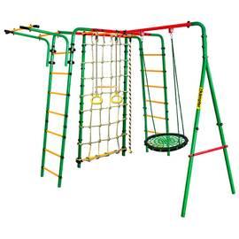 Спортивно-игровой комплекс Kampfer Kindisch (гнездо 60 см, черно-зеленое), Диаметр кольца: 60 см, Цвет качелей: Черно/зеленый, фото