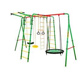 Спортивно-игровой комплекс Kampfer Wunder (гнездо 100 см, черно-зеленое), Диаметр кольца: 100 см, Цвет качелей: Черно/зеленый, фото