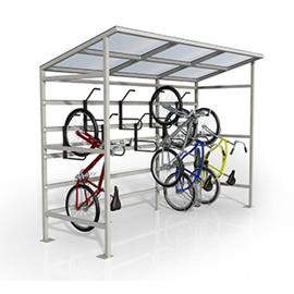 Гараж для вертикального хранения велосипедов Ракета (10 мест), фото
