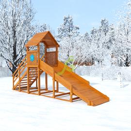 """Зимняя горка """"Снежинка"""", с крышей, скат 4 м, фото"""