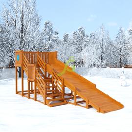 Детская деревянная зимняя горка Snow Fox, скат 5,9 м, фото
