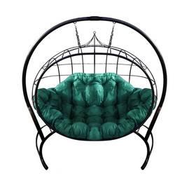 """Подвесное кресло кокон """"Улей"""" с зеленой подушкой, Цвет: Зеленый, фото"""